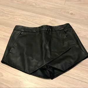 Express (Minus the Leather) Asymmetrical Hem Skort